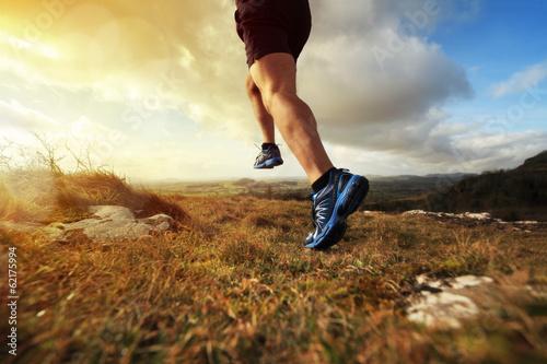 Leinwanddruck Bild Healthy trail run