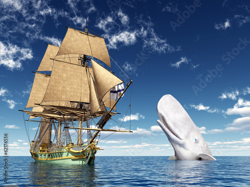 18th Century Corvette and White Whale