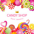 Bright background with candies - 62176779