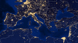 Mediterranean Sea - Night