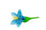 Paper flower with blue petals