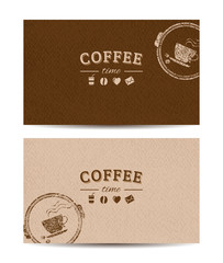 coffee time cards