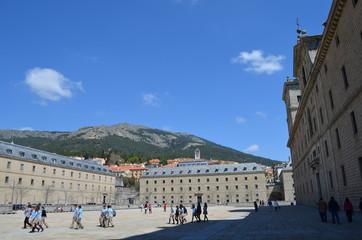 Vorplatz und Stadtblick El Escorial