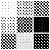 Fototapety Seamless vector black white grey polka dots pattern background