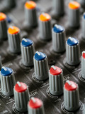Recording studio mixer knobs