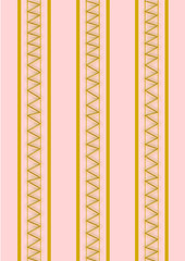 Hintergrund goldenes Zickzackmuster auf rosa