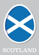 sticker flag of Scotland in form of easter egg