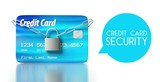 Credit card security padlock and chain
