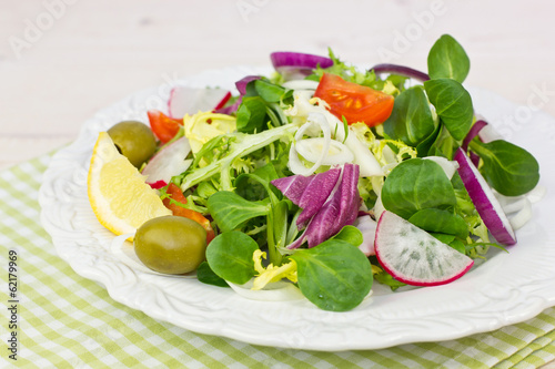 Fresh salad on the table