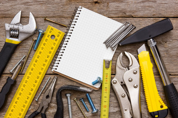 Work tools and notebook