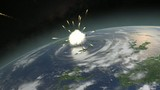Asteroid hitting Earth in an extinction level event