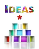 Ideas with colorful 3d design illustration