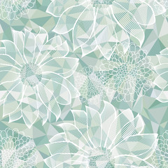 Lacy Flowers Seamless Pattern