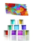 Paint splash colorful 3d design illustration