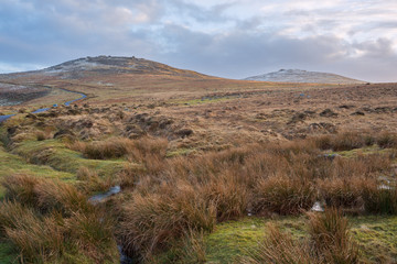 West miil and Yes tor Dartmoor Devon Uk
