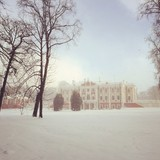 Snow storn near Kadriorg palace
