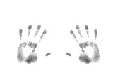 gray silhouette of fingerprints