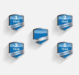 Guarantee Label Shield Vector Illustration