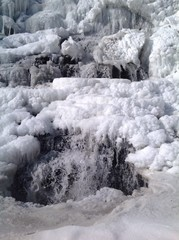 chute en hiver