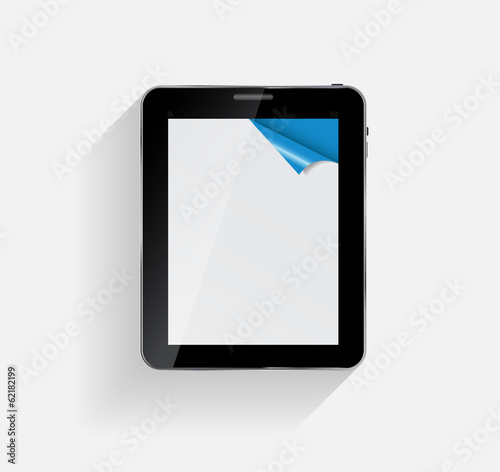 Abstract Design Tablet. Vector Illustration.