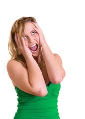 schockierte Frau