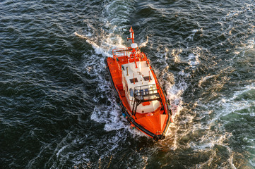 Coast Guard lifeboat.