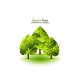 Green mosaic tree ecology design