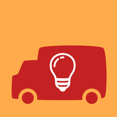 truck with a light bulb.