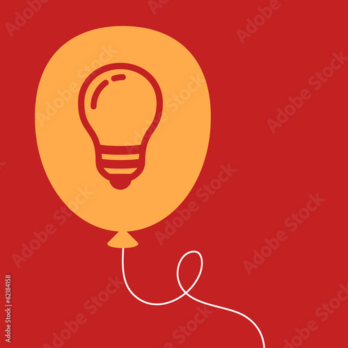 balloon with a light bulb