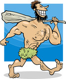 caveman cartoon illustration