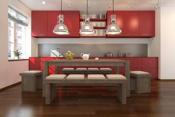 3D - Moderne Küche (II)