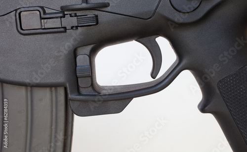 Lower receiver on an assault rifle