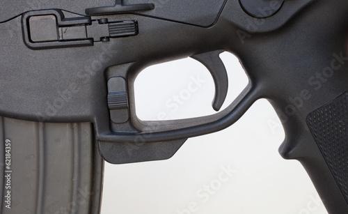 Lower receiver on an assault rifle