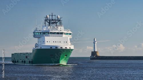 Oil Platform Supply Ship - 62184797