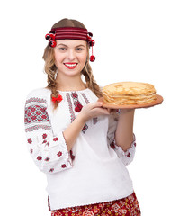 Ukrainian girl with crepes