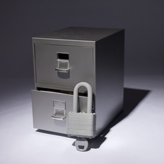 Lock and Filing Cabinet