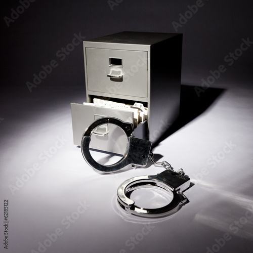 Handcuffs and Filing Cabinet