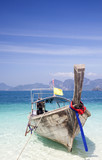 Thailand beach on tropical island. Beautiful travel background