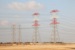 Electricity pylons in Qatar, Middle East