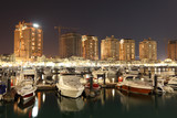 Porto Arabia at night. Doha, Qatar, Middle East