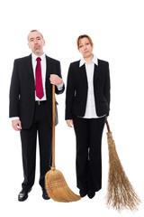 Zwei Arbeitslose Business Angestellte