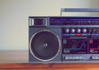 retro ghetto blaster