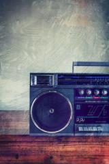 retro grunge stereo