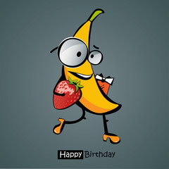 Happy Birthday Funny banana smile
