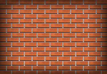 Brick wall realistic vector