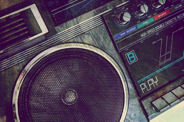 grungy stereo speaker