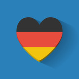 Heart-shaped icon with flag of Germany
