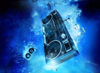 ghettoblaster underwater