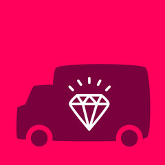 truck with a diamond