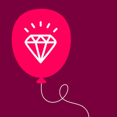 balloon with a diamond